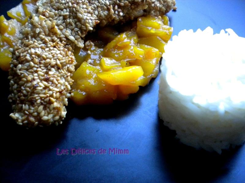 Filets de lapin en croûte de sésame et chutney de mangue 4