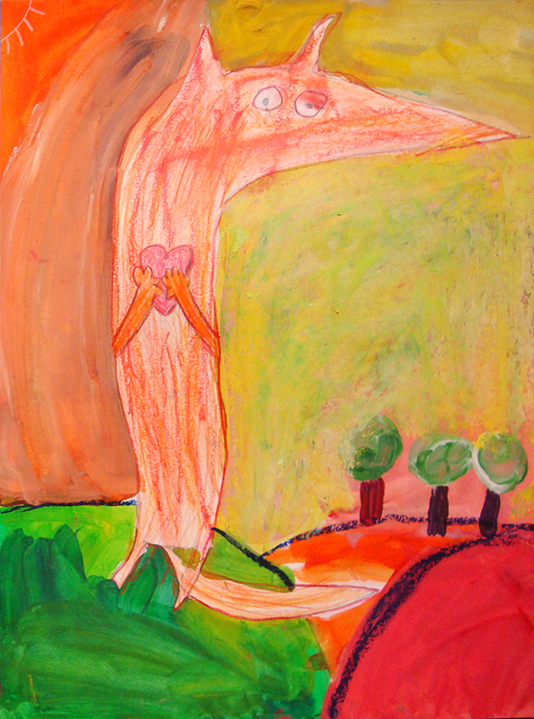 loup peinture 15