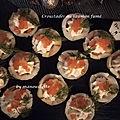 Croustades au saumon fumé