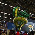 Un dragon sur le stand de Sony
