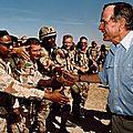 1991 - des américains, saoudiens et égyptiens libèrent le koweït