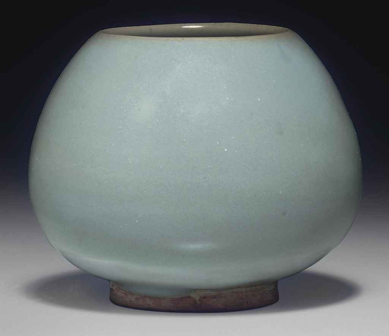 A Junyao bud-form water pot, Jin dynasty, 12th-13th century