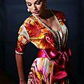 Caftan marocain multicolore en vente
