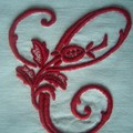 alphabet à la rose lettre C en rouge