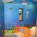 Fresque sous-marine dans une creche