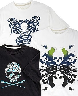 Marc Ecko Cut & Sew Eagle On Tee, Inkblot Graphic Tee and Alaskan Skull Tee