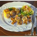 Saint-jacques aux girolles, butternut et salade granny-smith