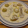 Filets de lieu jaune à la crème de vanille au four