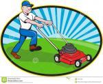 dessin-anim-de-jardinier-d-homme-de-tondeuse-gazon-27671589