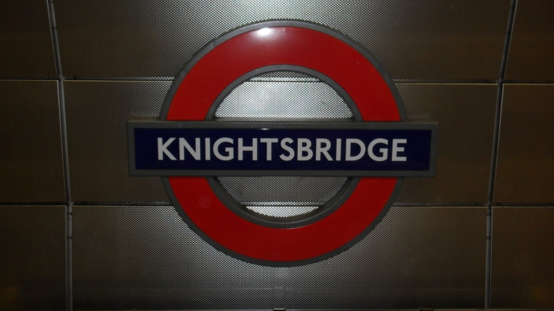 London Underground : Panneau Knightsbridge