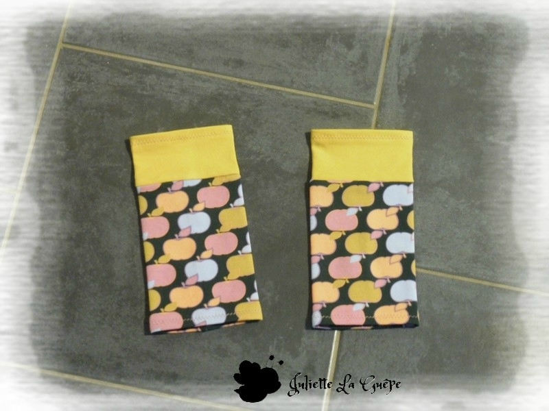 Boléro Issy pommes jaune et guêtres10