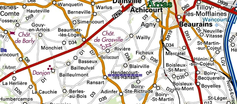 carte actuelle villages
