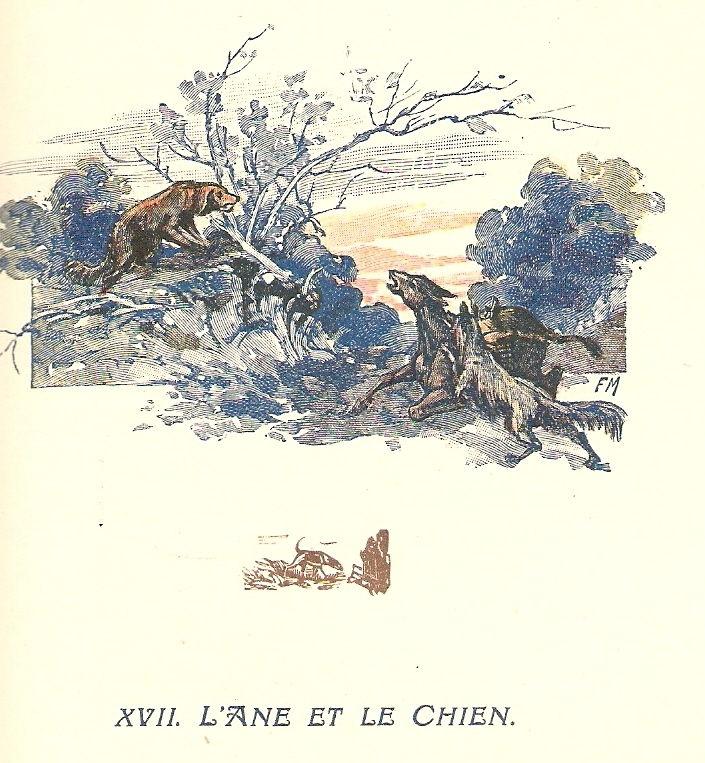 L'âne et le chien - VIII,XVII