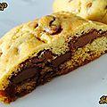Cookies au chocolat praliné