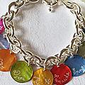 Bracelet personnalisé sur chaîne argent massif grosse maille ovale