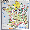 Collection ... carte france agriculture et elevage / peche