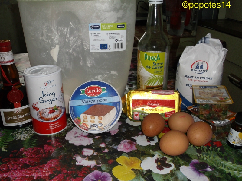 ingredients buche