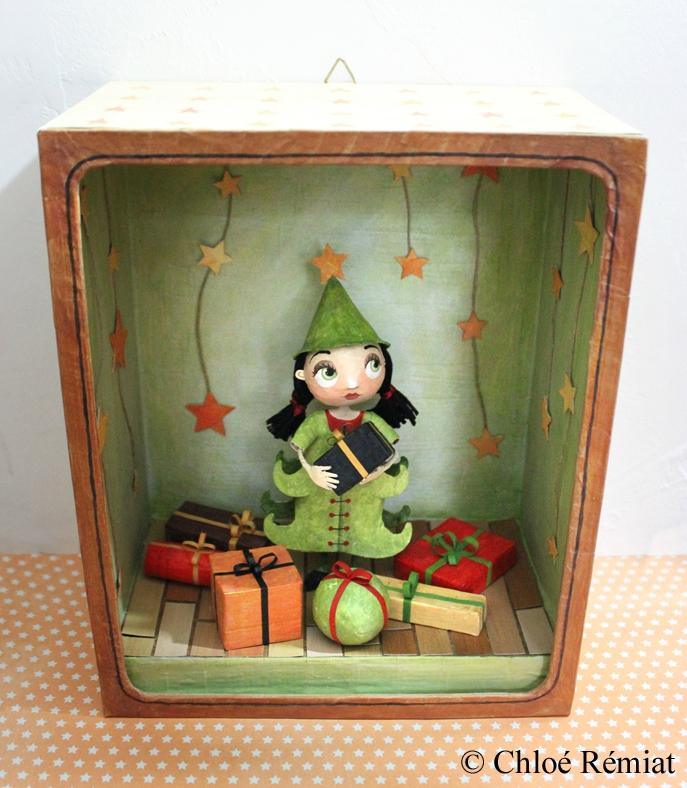 boite demoiselle sapin de Noël 1