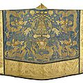 A couched silk daoist priest's robe (jiangyi), qing dynasty, late 19th century