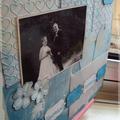 page mariage bleu blanc details