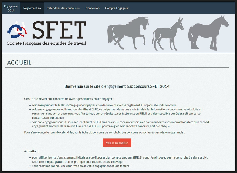 Screen Page Accueil Site Engagement SFET