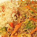 Sauté de légumes aux germes de soja