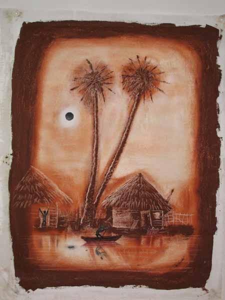 peinture,piroguier de marcel cetyre