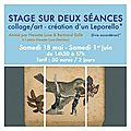 Stage collage/art avec bertrand sallé
