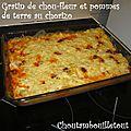 Gratin de chou-fleur et pommes de terre au chorizo