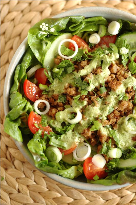 Salade crumble