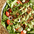 Salade crumble vegetarienne