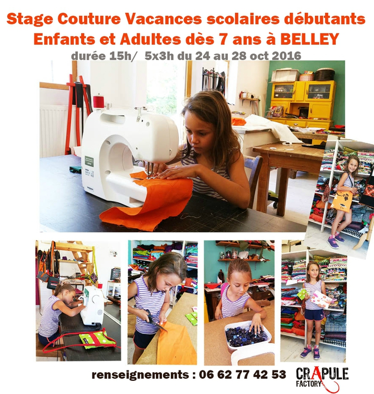 stage adulte enfant octobre 2016 crapule factory Belley