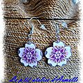 boucles d'oreille fimo fleur cerisier sof