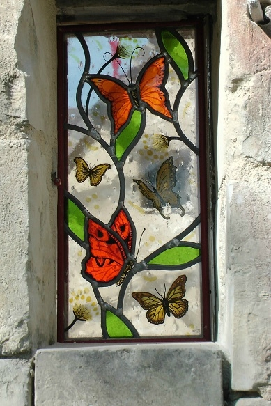 butterflies-stained glass - clotilde gontel