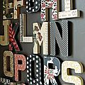 L'idée déco et récréative de la semaine : des lettres sur mes murs !