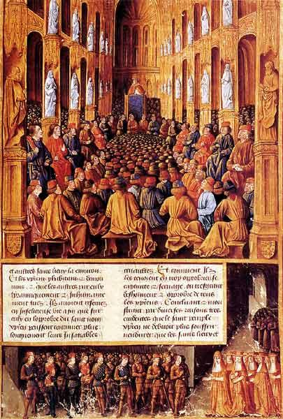 Le Pape Urbain II Preside Le Concile De Clermont et prêche la Croisade en Terre Sainte