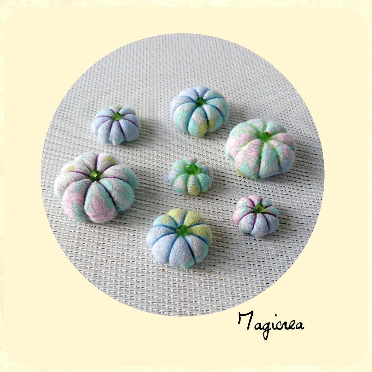 7 fleurs japonaises tissu pastel
