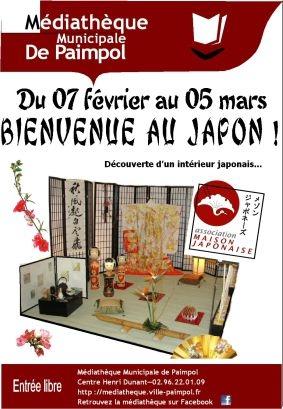 affiche bienvenue au japon