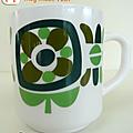 Vaisselle vintage ... mug mobil * couleur à choisir