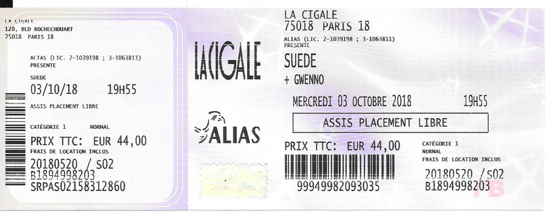 2018 10 03 Suede Cigale Billet