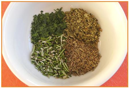 herbes fraîches au sel8