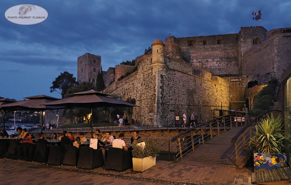 COLLIOURE_vue_de_nuit_le_chateau_royal