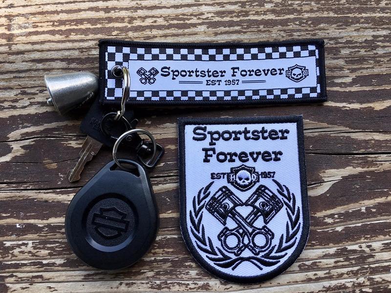 Porte clés et Ecusson Sportster Forever