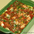 Lasagnes aux aubergines et crevettes piquantes