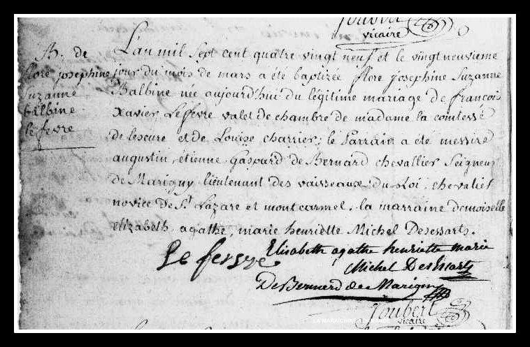 acte naissance Flore-Joséphine-Suzanne-Balbine Lefevre