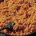 Semoule de chou-fleur et riz de carotte au cumin