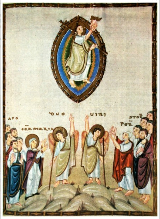Ascension, évangéliaire d'Egbert, 10e s