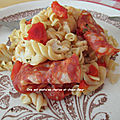 One pot pasta chorizo et choux-fleur