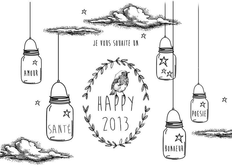 2013 HAPPY NEW YEAR! N&B