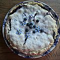 Tourte aux myrtilles - blueberry pie